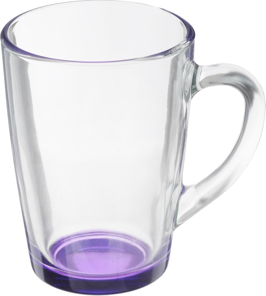 Кружка OSZ Капучино, цвет: прозрачный, фиолетовый, 300 мл. 07C1334LM54 009312Кружка OSZ Капучино изготовлена из стекла двух цветов. Изделие идеально подходит для сервировки стола.Кружка не только украсит ваш кухонный стол, но и подчеркнет прекрасный вкус хозяйки. Диаметр кружки (по верхнему краю): 8 см. Высота кружки: 11 см. Объем кружки: 300 мл.