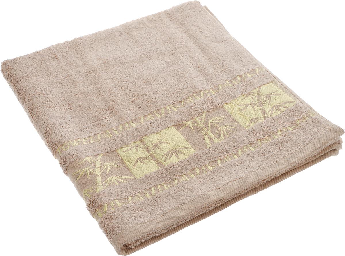 Полотенце Brielle Bamboo Gold, цвет: мокко, 70 х 140 см531-401Полотенце Brielle Bamboo Gold выполнено из бамбука с содержанием хлопка. Изделие очень мягкое, оно отлично впитывает влагу, быстро сохнет, сохраняет яркость цвета и не теряет формы даже после многократных стирок. Одна из боковых сторон оформлена оригинальным рисунком и надписью. Полотенце Brielle Bamboo Gold очень практично и неприхотливо в уходе. Такое полотенце послужит приятным подарком.