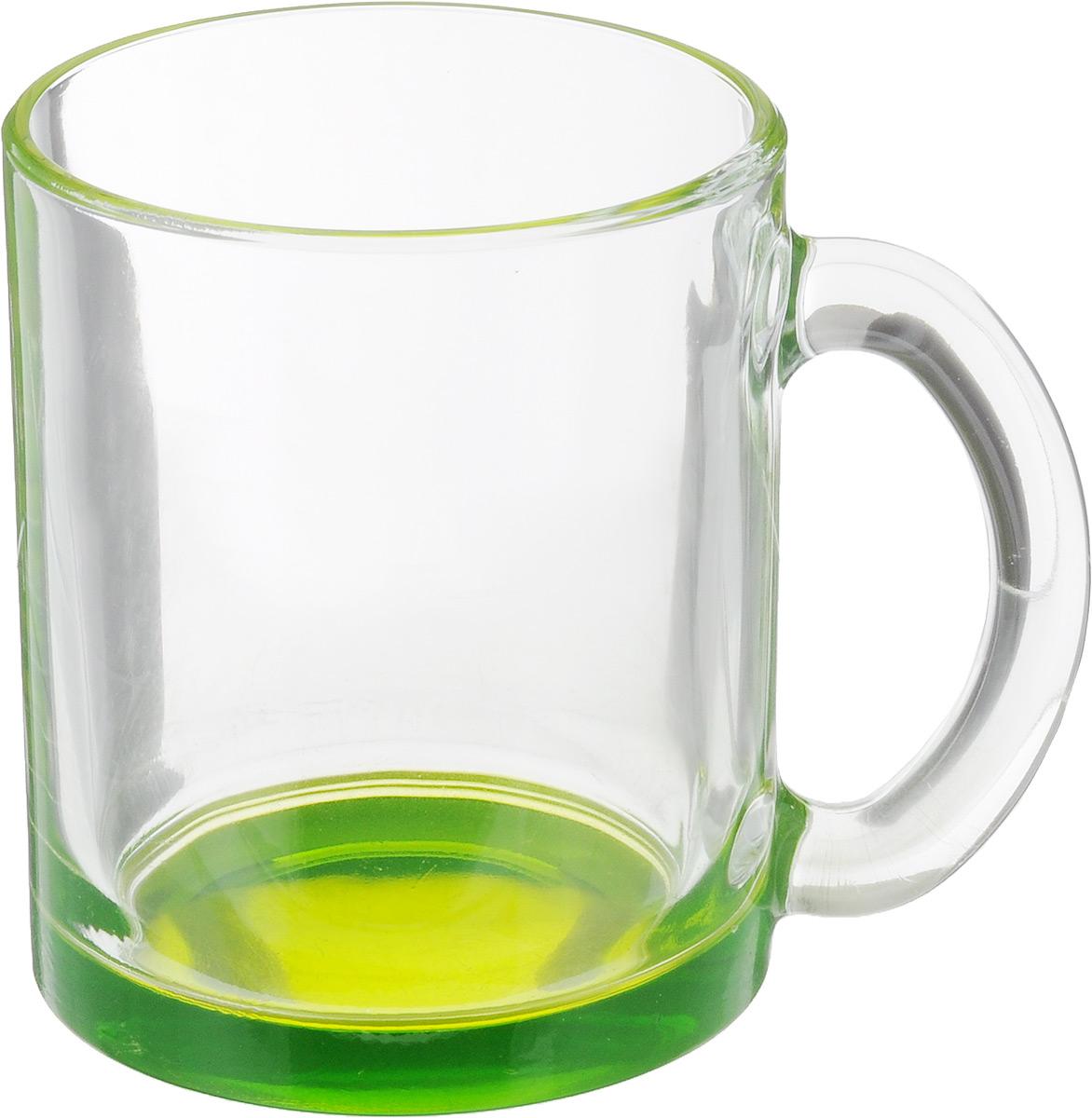 Кружка OSZ Чайная, цвет: прозрачный, зеленый, 320 мл54 009312Кружка OSZ Чайная изготовлена из стекла двух цветов. Изделие идеально подходит для сервировки стола.Кружка не только украсит ваш кухонный стол, но подчеркнет прекрасный вкус хозяйки. Диаметр кружки (по верхнему краю): 8 см. Высота кружки: 9,5 см. Объем кружки: 320 мл.