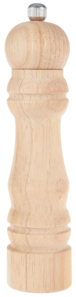 Мельница для перца Metaltex, высота 18,5 см4630003364517Мельница для перца Metaltex изготовлена из дерева и стали. Жернова в основании перцемолки изготовлены из керамики. Мельница легка в использовании, стоит только покрутить верхнюю часть мельницы, и вы с легкостью сможете поперчить по своему вкусу любое блюдо.Высота емкости: 18,5 см.Диаметр основания емкости: 4 см.