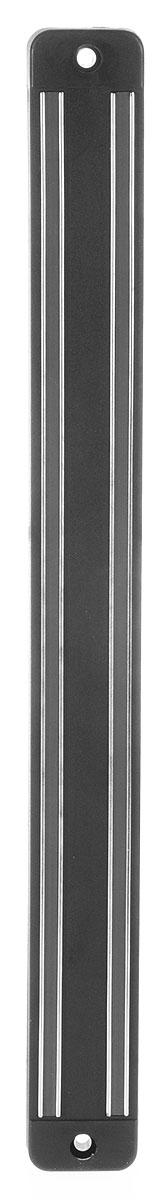 Держатель магнитный настенный Metaltex, 33 см25.81.98Настенный магнитный держатель - это удобное приспособление, которое непременно пригодится на вашей кухне. Он выполнен из металла и пластика и для удобства крепится к стене при помощи двух шурупов с дюбелями.Магнитный держатель предохранит ваш кухонный нож от царапин и контактов с остальными ножами и столовыми приборами. Кухонные ножи всегда будут остры и пригодны для любых нагрузок. Магнитный держатель - это стильный аксессуар для вашей кухни.Размеры держателя: 33 х 3 х 1,5 см.
