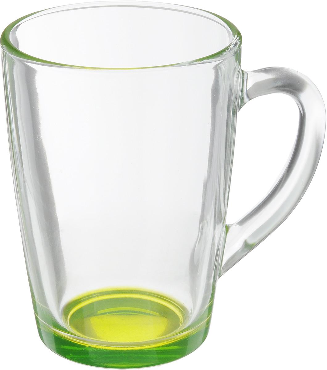 Кружка OSZ Капучино, цвет: прозрачный, салатовый, 300 мл. 07C1334LM115510Кружка OSZ Капучино изготовлена из стекла двух цветов. Изделие идеально подходит для сервировки стола.Кружка не только украсит ваш кухонный стол, но и подчеркнет прекрасный вкус хозяйки. Диаметр кружки (по верхнему краю): 8 см. Высота кружки: 11 см. Объем кружки: 300 мл.