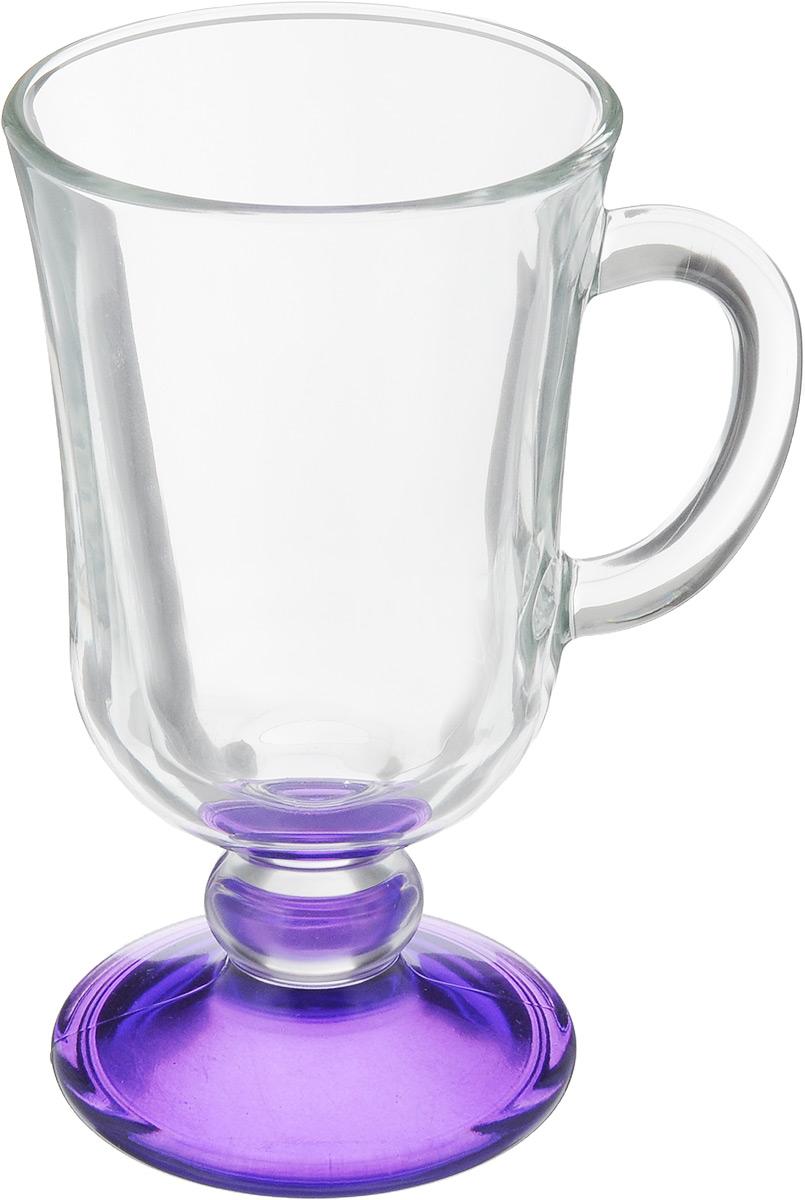 Кружка OSZ Глинтвейн, цвет: прозрачный, фиолетовый, 200 мл115510Кружка OSZ Глинтвейн изготовлена из стекла двух цветов. Изделие идеально подходит для сервировки стола.Кружка не только украсит ваш кухонный стол, но и подчеркнет прекрасный вкус хозяйки. Диаметр кружки (по верхнему краю): 7,5 см. Высота ножки: 3,5 см. Высота кружки: 14 см. Объем кружки: 200 мл.