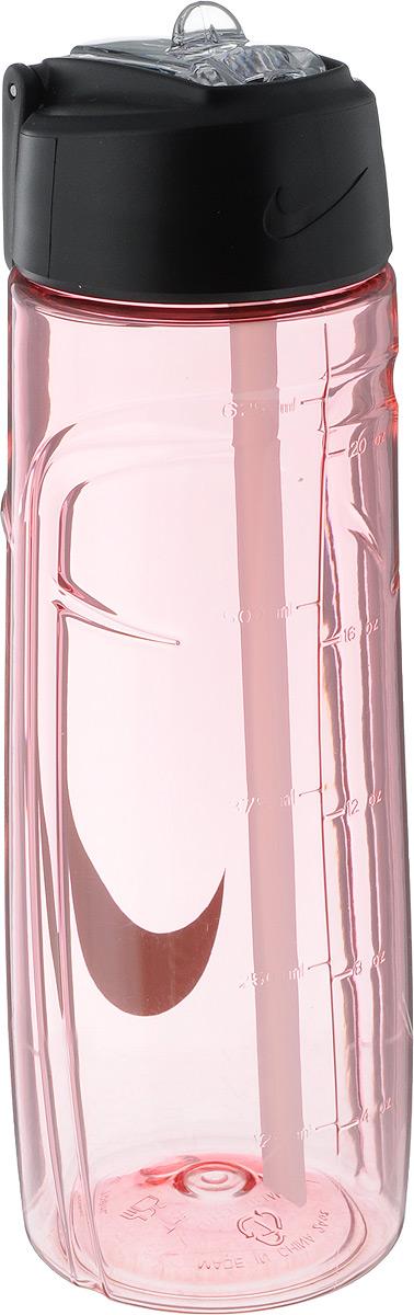 Бутылка для воды Nike  T1 Flow Swoosh Water Bottle 24oz , цвет: розовый, серый, 709 мл - Шейкеры