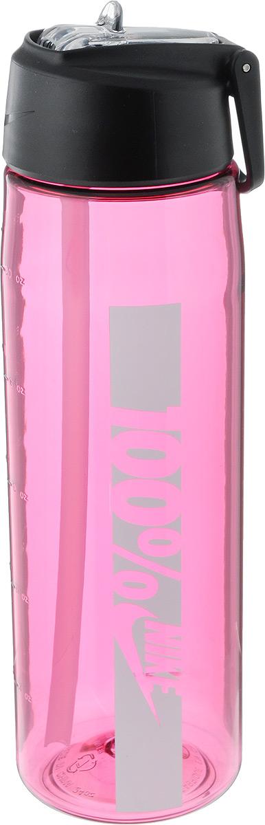 Бутылка для воды Nike  Core Flow 100 Water Bottle 24oz , цвет: розовый, белый, 709 мл - Шейкеры