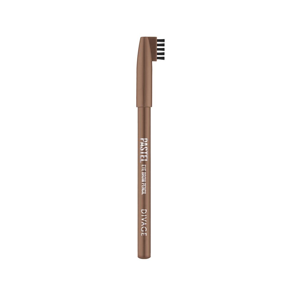 Divage Карандаш Для Бровей Pastel - Тон № 1104MFM-3101Карандаш плотной текстуры идеально подходит для графичного моделирования формы бровей. Воздушный пудровый контур придаёт бровям совершенную форму и гармоничный объём. Обеспечивает эффект натуральных, ровных и густых бровей. Эффект достигается не только благодаря насыщенному составу, но и маленькой расчёске, которая используется до и после применения карандаша. Она предварительно подготавливает брови для использования карандаша, а затем облегчает его равномерное распределение для придания брови формы и ровного цвета. Касто ровое масло и растительные воски, содержащиеся в составе карандаша, бережно ухаживают за нежной кожей века. Подари образу максимальную естественность с карандашами для бровей PASTEL от DIVAGE!