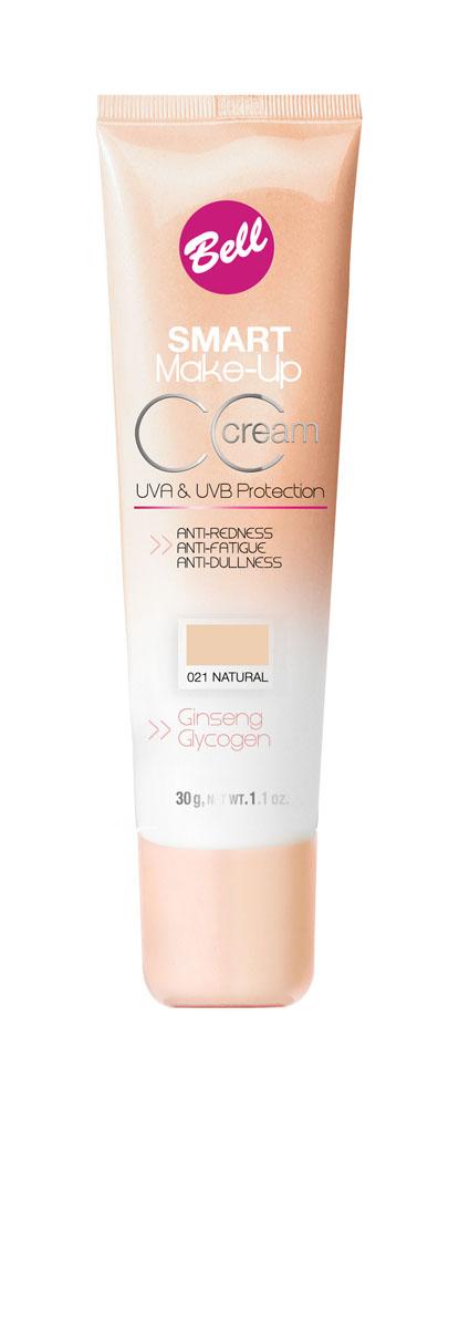 Bell Флюид Комплексный Cс Cream Smart Make-up Тон 21MFM-3101Редуцирует покраснения, устраняет мелкие недостатки кожи, придает коже ровный тон. Содержит UVA и UVB фильтры, защищающие кожу от вредного действия солнечных лучей.