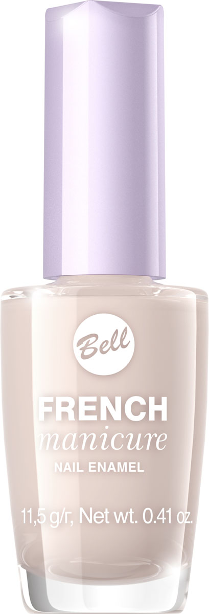 Bell Лак Для Ногтей Устойчивый Гипоаллергенный French Manicure Nail Тон 1280284338Натуральный элегантный маникюр! French manicure от Bell - это наиболее простой и эффективный способ создания настоящего французского маникюра. Новейшая коллекция включает 12 деликатных оттенков: 6 из них обогащены серебристыми искорками, другие 5 придают ногтям матовый блеск.