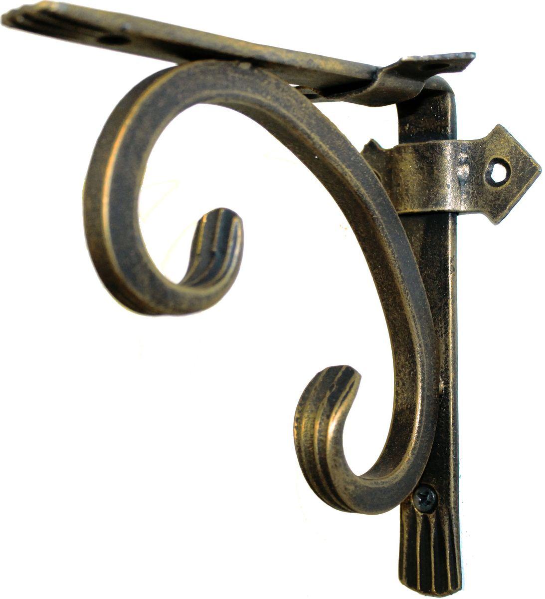 Держатель кованный для кашпо AVMmetall, цвет: черный, бронзовый. 150-bl-br391602Кованный держатель для кашпо AVMmetall, изготовленный из высококачественной стали, декорирован патиной. Изделие станет прекрасным украшением вашего сада. С его помощью вы сможете расположить корзину с цветами, а также установить полку в любом удобном месте: на даче, участке, на городском балконе и в других местах.Такой держатель с годами не потеряет своей привлекательности. При правильном монтаже выдерживает статичную нагрузку до 150 кг. Размер держателя (ДхШ): 15 х 15 см.