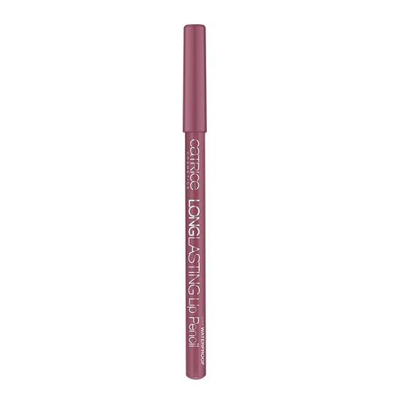 Catrice Контур для губ Longlasting Lip Pencil 180 All-Time Mauvie Star розово-лиловый 0.78 грMFM-3101Стойкая формула и интенсивный цвет карандашей для губ из серии Longlasting не позволят Вашей помаде или блеску выйти за очерченный контур, что позволит сохранить макияж по-настоящему надолго. Он также поможет скрыть небольшие неровности линии губ.