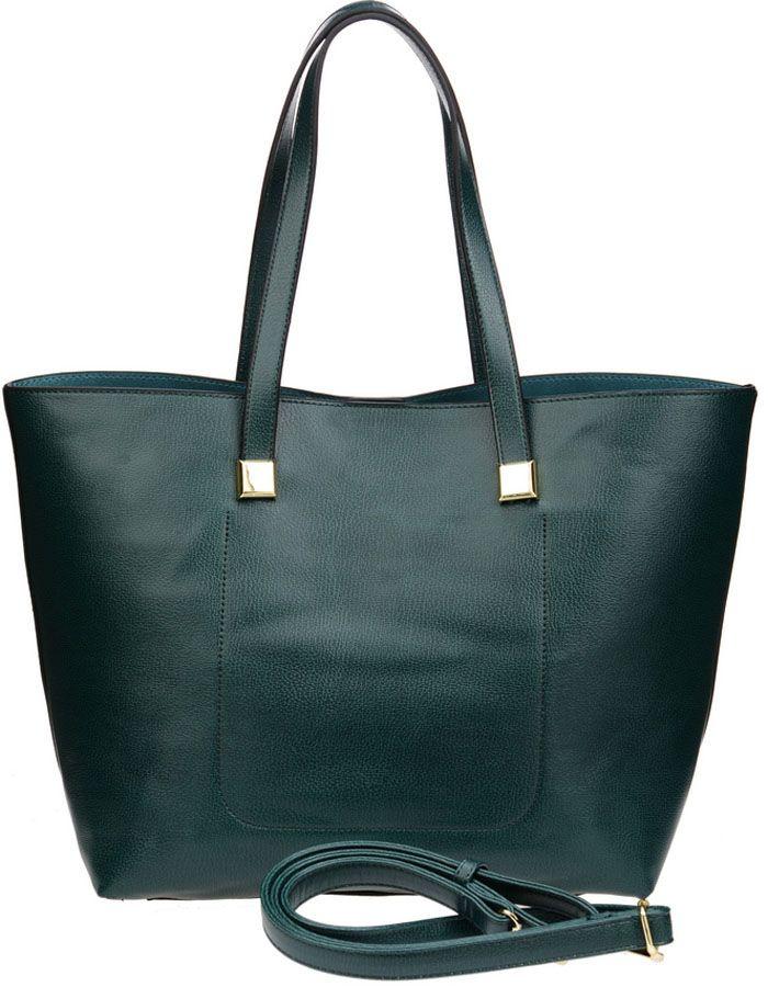Сумка женская Vera Victoria Vito, цвет: темно-зеленый. 32-523-7BM8434-58AEТренд сезона - две сумки в одной для практичных женщин, которые любят всегда все брать с собой. Большая сумка довольно вместительная, и вместе с тем простая, в нее вы можете сложить крупные предметы. Она выполнена полностью из экокожи. Модель застегивается на магнитную кнопку, внутри два кармана, один из которых на молнии. Внутри прямоугольная сумочка на молнии (35 см х 23см) для более мелких вещей, выполнена из экокожи, внутри подкладка из текстиля, имеет карман на молнии и кармашки для мелочей. Дополнительно плечевой ремень на карабине.