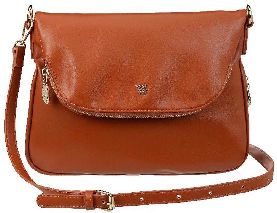 Сумка женская Vera Victoria Vito, цвет: коричневый. 36-636-610130-11Сумка женская Vera Victoria Vito выполнена из экокожи. У сумки одна удобная регулируемая ручка на плечо. По контуру проходит молния для увеличения объема сумки. Лаконичная модель застегивается на молнию и клапан на магните с карманом на молнии. Внутри одно отделение, карман для паспорта и кармашки для мелочей. С обратной стороны карман на молнии.