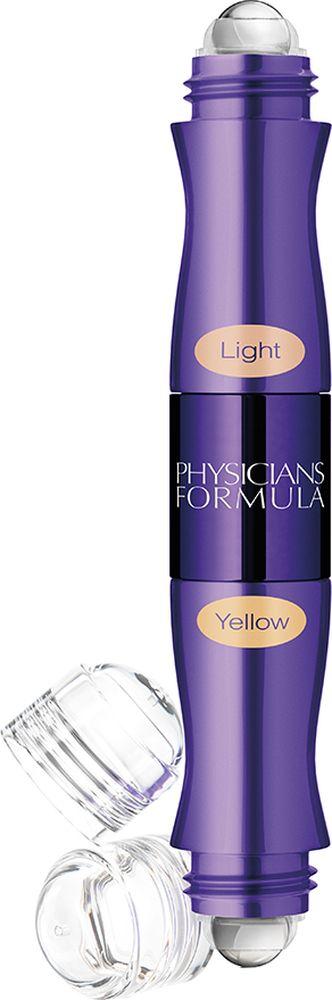 Physicians Formula Консилер двухцветный с ролл-аппликатором Youthful Wear Dark Circle Corrector+Concealer тон светлый+желтый 9 г28032022Удобный универсальный продукт 2 в 1, сочетающий в себе 2 оттенка. Корректирующим цветом вы скрываете несовершенства кожи, бежевым оттенком вы добиваетесь идеального результата. После нанесения консилера, кожа сияет красотой, свежестью и здоровьем. Текстура консилера обладает приятной невесомостью, легко наносится и растушевывается с помощью ролика в аппликаторе. Немного теории по корректировке несовершенств кожи: желтый оттенок консилера нейтрализует темные, синеватые круги под глазами. Зеленый оттенок скрывает покраснения, высыпания и небольшие шрамы.