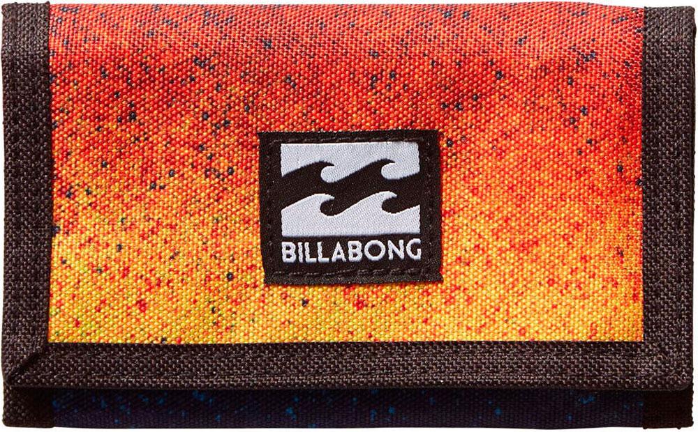 Кошелек Billabong Atom Wallet, цвет: оранжевый, синий, черный. 36078693694691-022_516Классический тряпичный кошелек с новыми расцветками от Billabong.