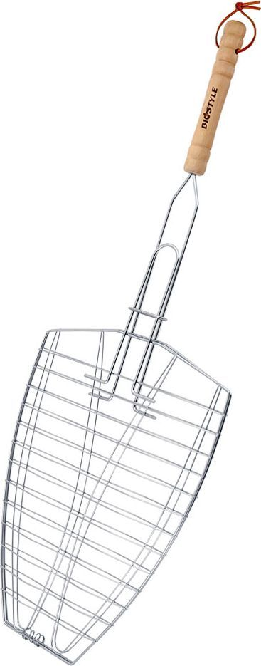 Решетка-гриль Biostyle Походная, универсальная, 30 х 26 смХ66532-5Универсальная решетка-гриль Biostyle Походная предназначена для приготовления мяса, шашлыков, окороков, колбасок, сосисок, рыбы, овощей и прочих продуктов на открытой шашлычнице, в камине, на костре. Решетка изготовлена из высококачественной стали с хромированным покрытием, что облегчает процесс мытья решетки. Деревянная ручка облегчает эксплуатацию изделия и исключает возможность получения ожога. В производстве используются только экологически чистые материалы. Приготовления продуктов с помощью решетки не требует использования жиров и масел, поэтому в продуктах сохраняются все полезные компоненты и не образуются вредные для организма вещества.Размер рабочей поверхности решетки (без учета ручки): 30 х 26 см.Толщина проволоки: 1,3 мм.