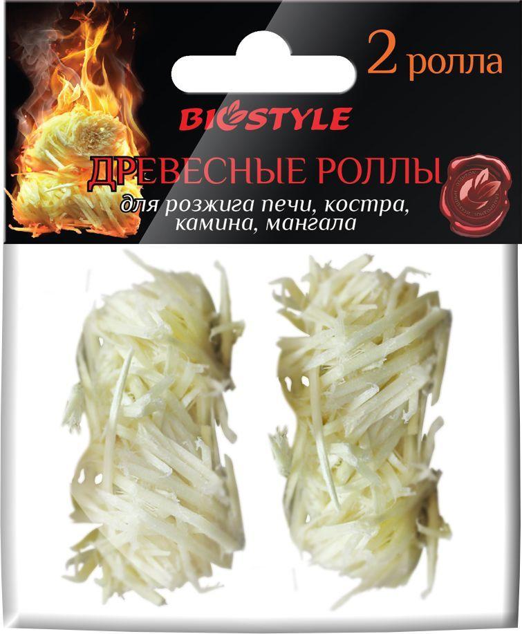 Роллы для розжига Biostyle, древесные, 2 шт роллы для розжига