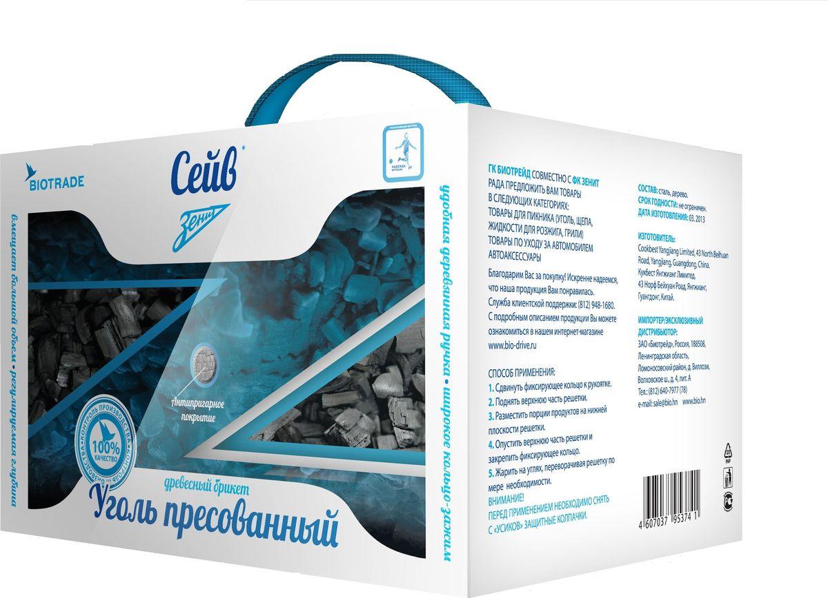 Древесно-угольные брикеты Зенит Сейв, 3 кг роллы для розжига