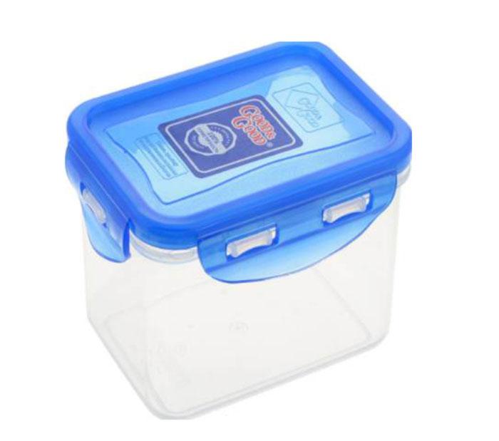 Контейнер Good&Good, цвет: прозранчый, синий, 2,2 лVT-1520(SR)Контейнер  Good&Good изготовлен из высококачественного пластика. Изделие идеально подходит не только для хранения, но и для транспортировки пищи. Контейнер имеет крышку, которая плотно закрывается на 4 защелки и оснащена специальной силиконовой прослойкой, предотвращающей проникновение влаги, запахов и вытекание жидкости. Изделие подходит для домашнего использования, для пикников, поездок, отдыха на природе, его можно взять с собой на работу или учебу.Выдерживают температуру от -24°С до +125°С. Можно использовать в СВЧ-печах, холодильниках и морозильных камерах. Можно мыть в посудомоечной машине.Размер контейнера (без учета крышки): 18 х 12 см. Высота контейнера (без учета крышки): 12 см.