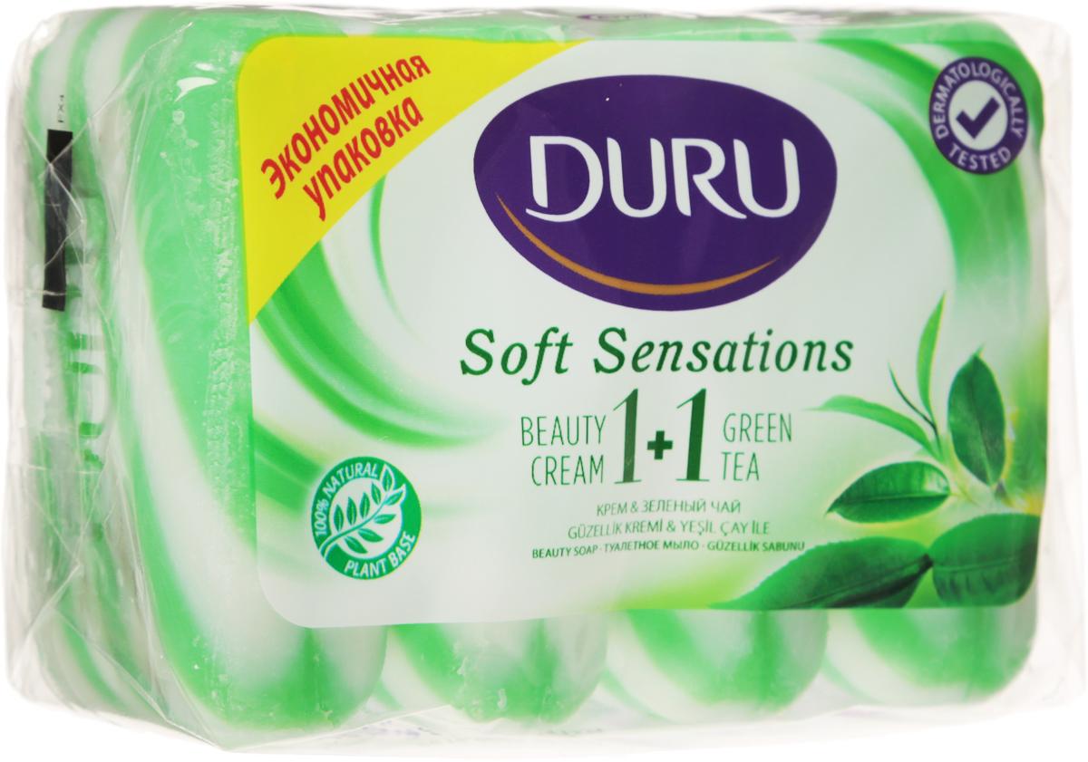 Duru Мыло 1+1 Зеленый чай 4*90г*Satin Hair 7 BR730MNОригинальное полосатое мыло с натуральными экстрактами и увлажняющим кремом бережно очищает Вашу кожу и придает ей мягкость и свежесть