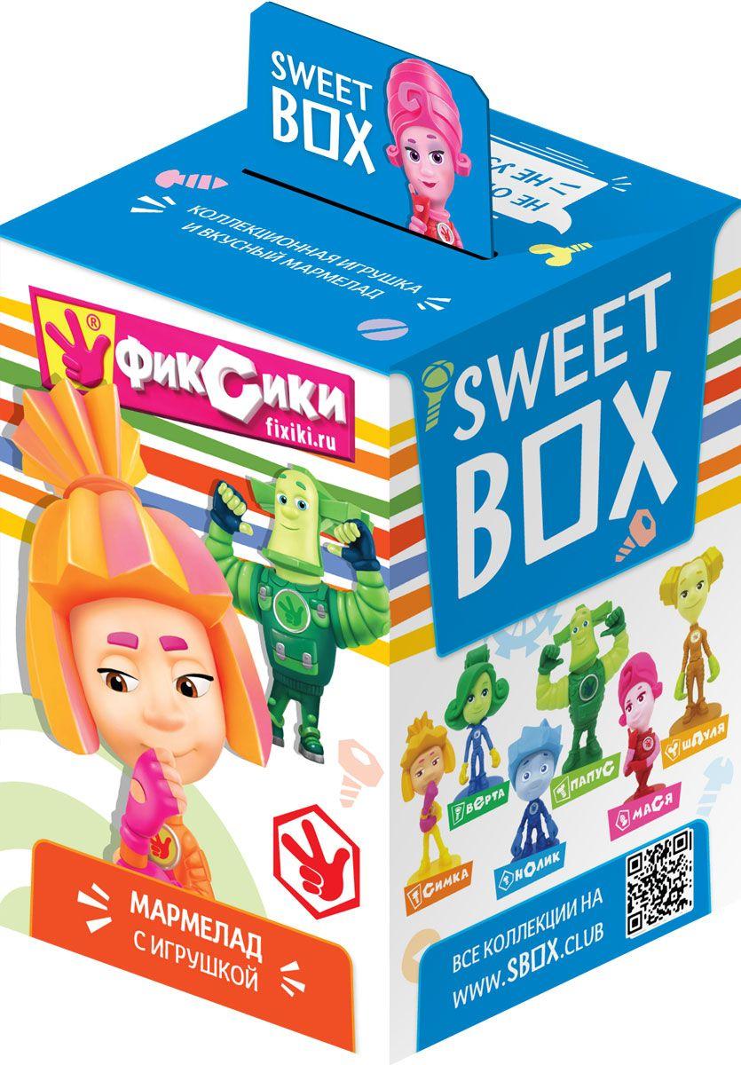 Sweet Box Фиксики жевательный мармелад с игрушкой, 10 г0120710Мармелад жевательный с натуральным соком со вкусом апельсина, яблока, клубники, персика, манго Свит бокс с подарком в наборе (Фиксики), 10 г.