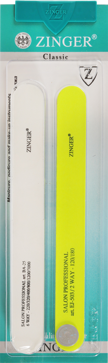 Zinger Набор пилок zo-SIS-23557В_прозрачныйКомплект маникюрных наждаков предназначен для придания формы ногтям и полировки его поверхностиУважаемые клиенты!Обращаем ваше внимание на то, что товар находится в цветовом ассортименте.