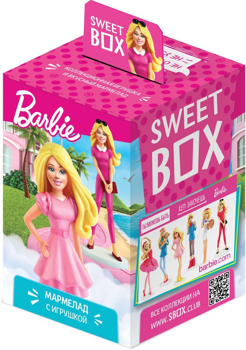 Sweet Box Barbie жевательный мармелад с игрушкой, 10 г0120710Мармелад жевательный с натуральным соком со вкусом апельсина, яблока, клубники, персика, манго Свит Бокс с подарком в наборе (Barbie).