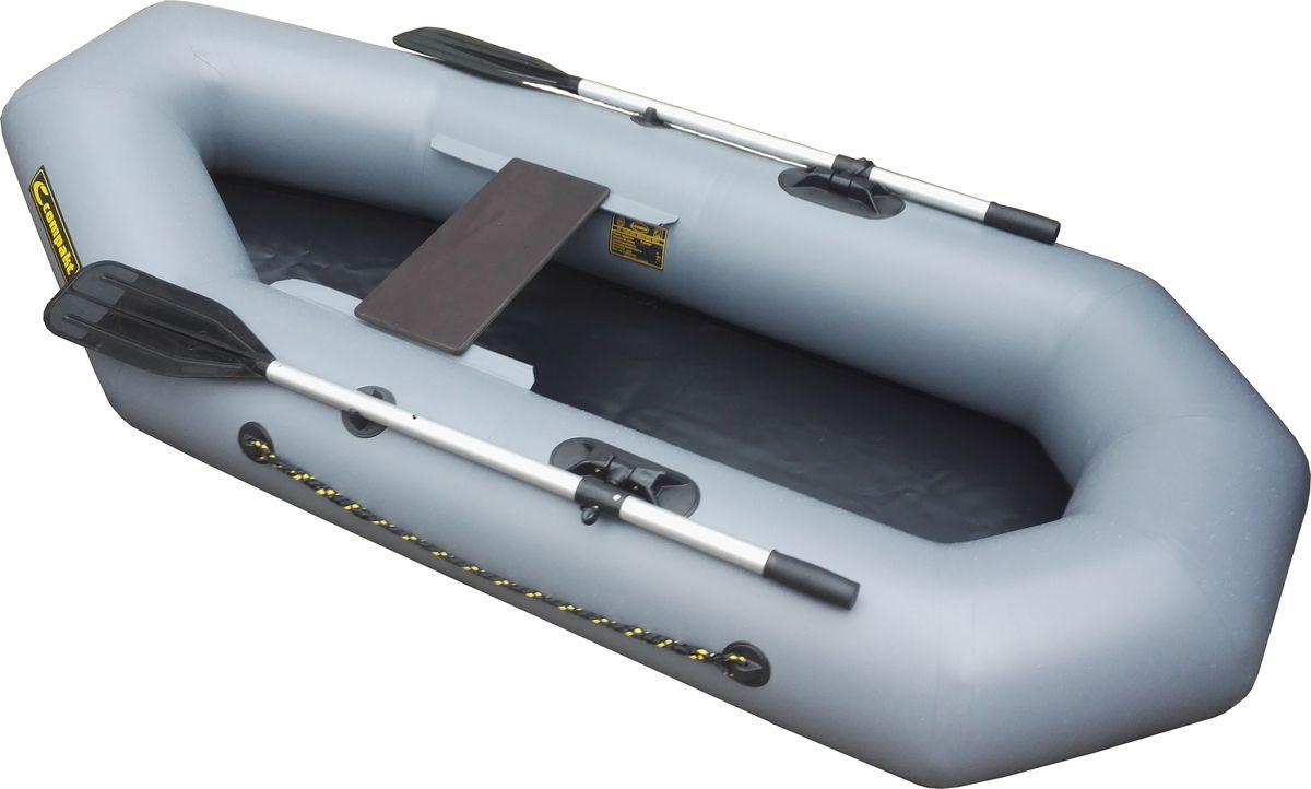 Лодка надувная Leader Компакт-220 гребная, цвет: серый53656Гребная надувная лодка Компакт 220  — лёгкая, компактная, надёжная и безопасная одноместная надувная лодка из ПВХ – это идеальный вариант для рыбалки и охоты на реках и озёрах, особенно если подъезд к ним затруднён, и нести гребную лодку требуется самостоятельно. Любители зимней рыбалки - могут воспользоватся лодкой для спасение на тонком льду. Для охотников лодка послужит неплохим дополнением при вылове трофея из воды.- Лодка Компакт состоит из одного замкнутого баллона, разделенного перегородками на 2 отсека, что позволит лодке остаться на плаву даже при случайном проколе баллона.- Корпус лодки Компакт изготавливается из 5-ти слойной ткани ПВХ корейского производства MIRASOL, являющейся одной из лучших на рынке. Используется ткань плотностью 750 г/м.кв. Реальный срок службы лодки из ПВХ составляет больше 15 лет. За счёт материала лодка подходит для эксплуатации в различных условиях — в тихих закрытых водоёмах, на волне или порожистых реках, среди коряг и камышей. Лодки из ПВХ не требуют специальной обработки после использования и на период хранения.- швы лодки соединены современным методом горячей сварки. Ткань соединяется встык, с проклейкой с двух сторон лентами из основного материала шириной 4 см на специальной машине. Для склейки применяется клей на полиуретановой основе, который, вступая в химический контакт с материалом склеиваемых поверхностей, соединяется с тканью на молекулярном уровне и получается единое полотно.- раскрой материала для лодок Компакт производится с использованием современной вычислительной техники, в результате чего человеческий фактор сведен к минимуму, что гарантирует идеальную геометрию лодки и исключает возможность брака.- по бортам внутри корпуса для банок установлена система Ликтрос - Ликпаз, основным преимуществом которой является подвижность что позволяет удобно разместится в лодке людям разной весовой категории. Банка изготовлена из фанеры толщиной 18 мм.-леерный пояс, ус