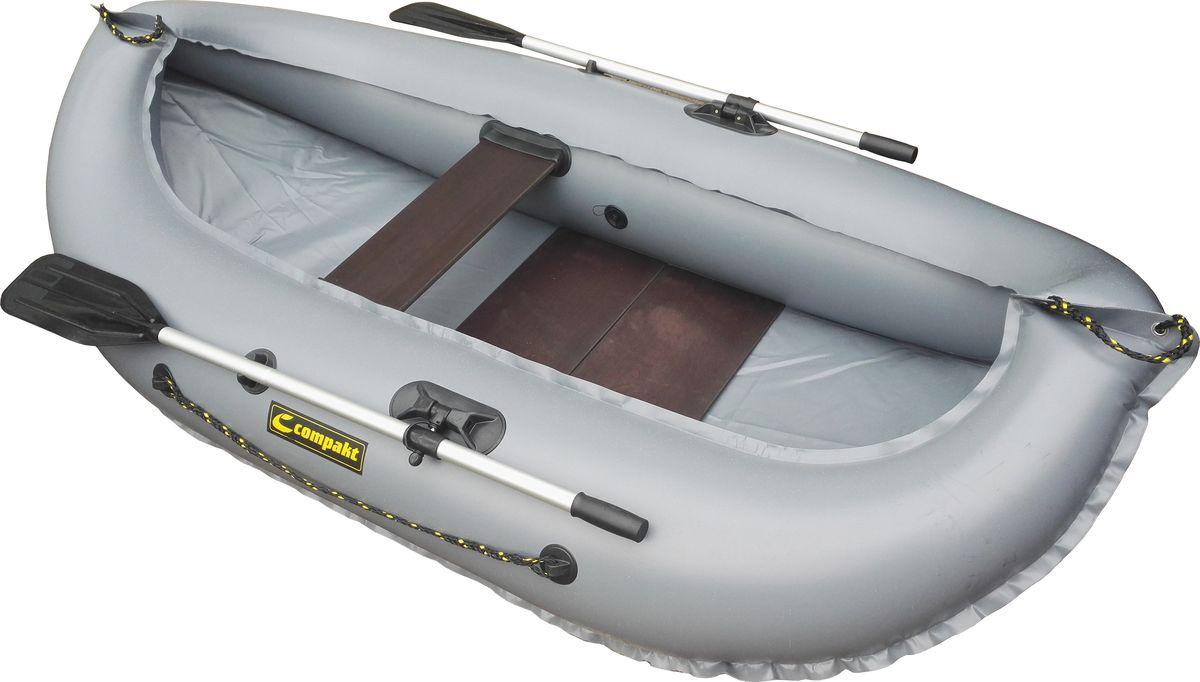 Лодка надувная Leader Компакт-240 гребная, цвет: серый54368Гребная надувная лодка Компакт 240 — одноместная малогабаритная лодка. Узкая и маневренная , а так же легкая - все это делает эту модель одной из лучших в своем классе. Удобно упаковывается в специальную сумку-рюкзак. Отличный вариант для рыбалки и охоты на реках и озёрах.Деревянный пол (слани, входит в комплектацию) придаст устойчивость и обеспечит безопасность нахождения в лодке. - Лодка Компакт состоит из одного замкнутого баллона, разделенного перегородками на 2 отсека, что позволит лодке остаться на плаву даже при случайном проколе баллона.- Корпус лодки Компакт изготавливается из 5-ти слойной ткани ПВХ корейского производства MIRASOL, являющейся одной из лучших на рынке. Используется ткань плотностью 750 г/м.кв. Реальный срок службы лодки из ПВХ составляет больше 15 лет. За счёт материала лодка подходит для эксплуатации в различных условиях — в тихих закрытых водоёмах, на волне или порожистых реках, среди коряг и камышей. Лодки из ПВХ не требуют специальной обработки после использования и на период хранения.- швы лодки соединены современным методом горячей сварки. Ткань соединяется встык, с проклейкой с двух сторон лентами из основного материала шириной 4 см на специальной машине. Для склейки применяется клей на полиуретановой основе, который, вступая в химический контакт с материалом склеиваемых поверхностей, соединяется с тканью на молекулярном уровне и получается единое полотно.- раскрой материала для лодок Компакт производится с использованием современной вычислительной техники, в результате чего человеческий фактор сведен к минимуму, что гарантирует идеальную геометрию лодки и исключает возможность брака.- по бортам внутри корпуса для банок установлена система Ликтрос - Ликпаз, основным преимуществом которой является подвижность что позволяет удобно разместится в лодке людям разной весовой категории. Банка изготовлена из фанеры толщиной 18 мм.- на лодках Компакт 240  для удобства переноски с двух 