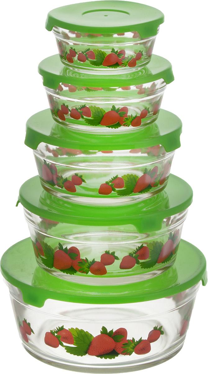 Набор салатников Wellberg Ideal, с крышками, цвет: прозрачный, зеленый, 5 шт54 009312Набор Wellberg Comfort состоит из 5 круглых салатников, выполненных из прочного стекла,и 5 пластиковых крышек. Изделия прекрасно подходят для сервировки салатов и закусок,маленькие салатники идеальны для подачи соусов. Поверхность изделий гладкая и ровная, легкочистится. Салатники снабжены плотно закрывающимися крышками, благодаря которым продуктыудобно хранить в холодильнике. Такой набор станет практичным приобретением для вашей кухни. Изделия можно мыть в посудомоечной машине и использовать в микроволновой печи. Диаметр салатников: 9 см, 10,5 см, 12,5 см, 14 см, 17 см. Высота салатников: 4 см, 4,8 см, 5,5 см, 6,2 см, 9 см.Объем салатников: 150 мл, 200 мл, 350 мл, 500 мл, 900 мл.