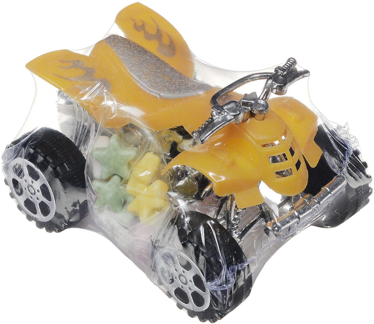 Конфитрейд Автодром Квадроцикл фруктовое драже с игрушкой, 5 г0120710Игрушка без механизмов в форме квадроцикла из пластика с крутящимися колесами. К квадроциклу на пластиковой стропе крепится блистер с клубничным драже. Игрушка рекомендуется детям старше трех лет.Уважаемые клиенты!Товар поставляется в цветовом ассортименте. Поставка осуществляется в зависимости от наличия на складе.