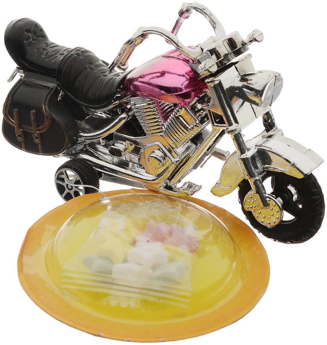 Конфитрейд Автодром Мотоцикл фруктовое драже с игрушкой, 5 гУТ18518Игрушка без механизма в форме мотоцикла из пластика. Предназначается для детей от трех лет. К мотоциклу на пластиковой стропе крепится блистер с драже в прозрачном пищевом пакетике.Уважаемые клиенты!Товар поставляется в цветовом ассортименте. Поставка осуществляется в зависимости от наличия на складе.