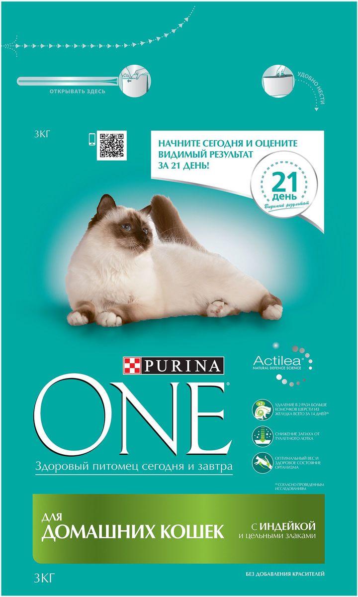 Корм сухой Purina One Indor для домашних кошек, с индейкой и цельными злаками, 3 кг0120710Специально разработанное ведущими ветеринарами питание для кошек и котов, которое обеспечивает оптимальное состояние здоровья и веса животного за счет высокого содержания белка. Но помимо протеина домашним кошкам нужно еще и достаточное количество клетчатки в рационе, которая также входит в состав корма Purina ONE®.МЕ/кг: витамин А: 36 960; витамин D3:1 120; витамин E: 770. Мг/кг: витамин С: 160, таурин: 780; железо: 253; йод: 3,2; медь: 50; марганец: 105; цинк: 428, селен: 0,29. Белок 34,0%, жир 13,0%, сырая зола 7,5%, сырая клетчатка 6,0%.