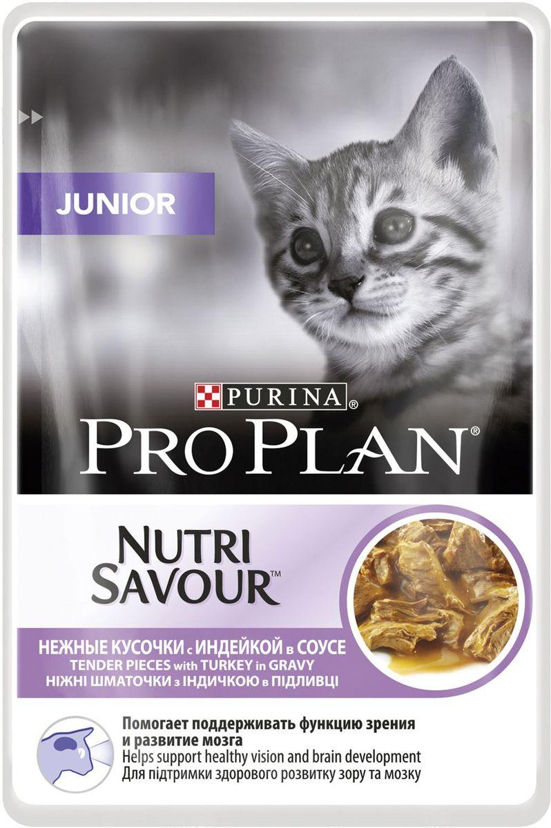Консервы Pro Plan Junior для кошек с чувствительным пищеварением и привередливых к еде, с говядиной, 5 шт х 85 г0120710Для котят в период роста. С индейкой в соусе. Способствует лучшему развитию мозга и зрения. Сбалансированный состав питательных веществ для здорового роста котят.МЕ/кг: Витамин A: 1329; витамин D3: 185; витамин E: 295. Мг/кг: таурин: 573; железо: 12,68; йод: 0,48; медь: 1,21; марганец: 2,22; цинк: 34,35; селен: 0,028. Влажность: 78%, белок: 12,5%, жир: 4%, сырая зола: 2,4%, сырая клетчатка: 0,3%, ДГК: 0,01%.