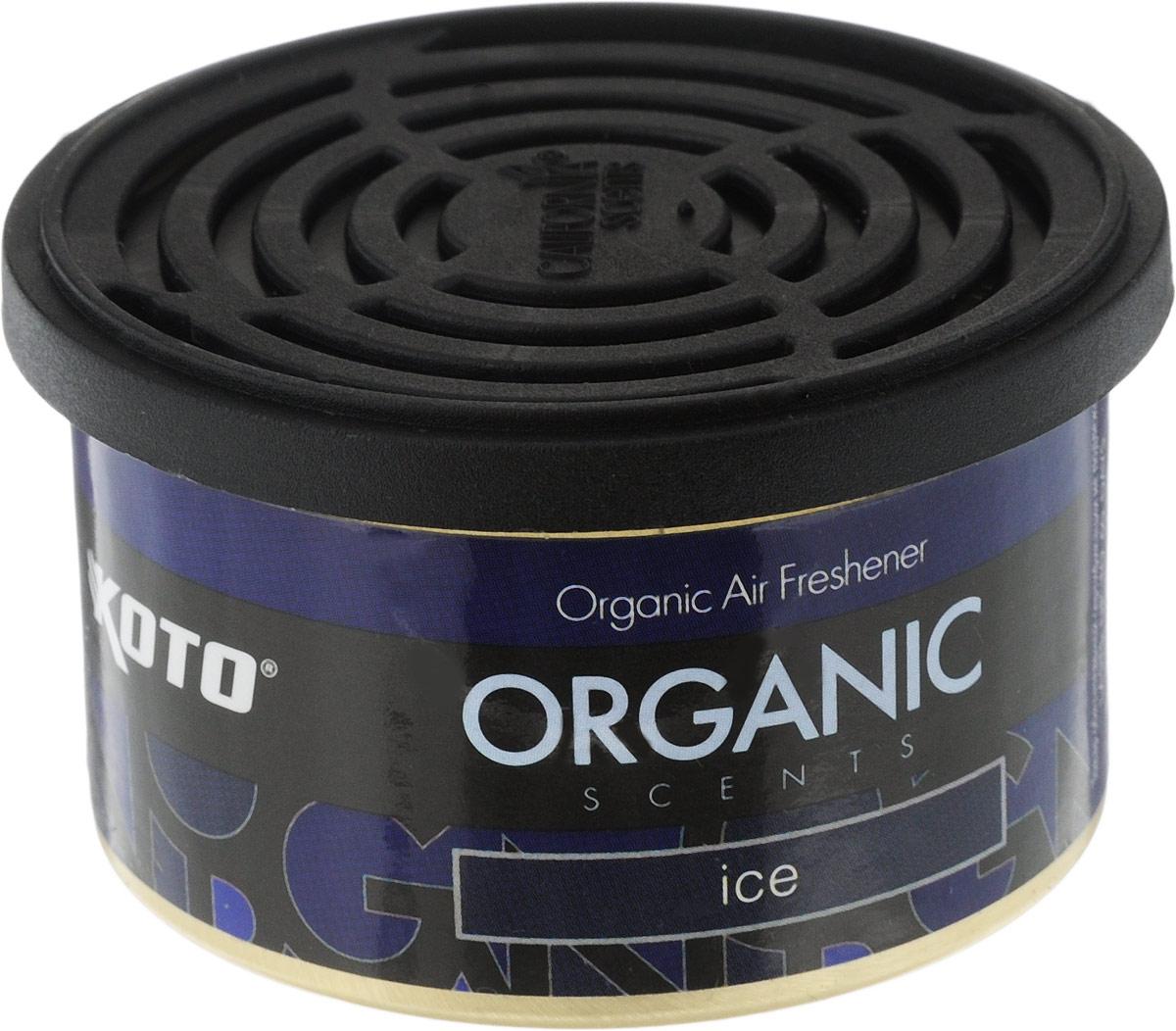 Ароматизатор автомобильный Koto Organic, ледCA-3505Автомобильный ароматизатор Koto Organic эффективно устраняет неприятные запахи и придает приятный аромат.Внутри - органический наполнитель, который не растекается и не вредит окружающей среде. Ароматизатор имеет удобную крышку-регулятор, так что интенсивность аромата вы сможете настроить сами. Стойкий аромат держится около 60 дней. Ароматизатор может быть расположен как на приборной панели, так и под сиденьем автомобиля.Товар сертифицирован.