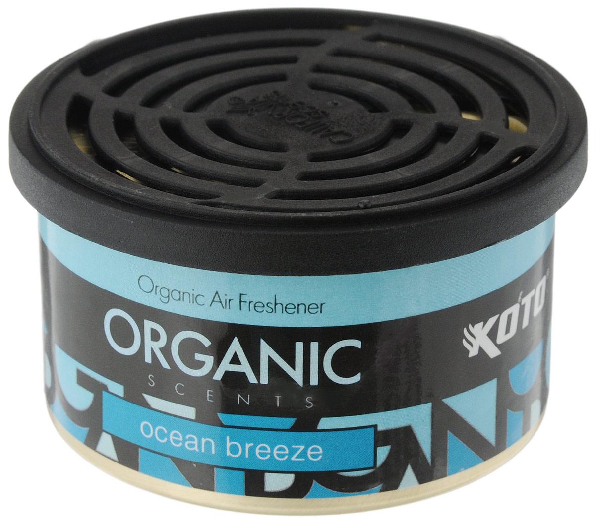Ароматизатор автомобильный Koto Organic, океанский бризK-4506Автомобильный ароматизатор Koto Organic эффективно устраняет неприятные запахи и придает приятный аромат океанского бриза.Внутри - органический наполнитель, который не растекается и не вредит окружающей среде. Ароматизатор имеет удобную крышку-регулятор, так что интенсивность аромата вы сможете настроить сами. Стойкий аромат держится около 60 дней. Ароматизатор может быть расположен как на приборной панели, так и под сиденьем автомобиля.Товар сертифицирован.