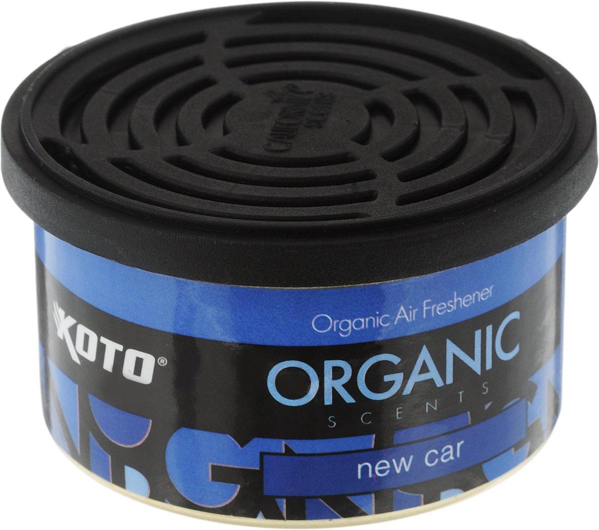 Ароматизатор автомобильный Koto Organic, новая машинаCA-3505Автомобильный ароматизатор Koto Organic эффективно устраняет неприятные запахи и придает приятный аромат новой машины.Внутри - органический наполнитель, который не растекается и не вредит окружающей среде. Ароматизатор имеет удобную крышку-регулятор, так что интенсивность аромата вы сможете настроить сами. Стойкий аромат держится около 60 дней. Ароматизатор может быть расположен как на приборной панели, так и под сиденьем автомобиля.Товар сертифицирован.