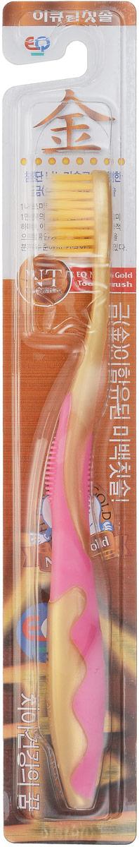 EQ MaxON Зубная щетка, детская, c наночастицами золота, средняя жесткость цвет розовый26102025EQ MaxON Зубная щетка, детская, c наночастицами золота, средняя жесткость цвет розовый