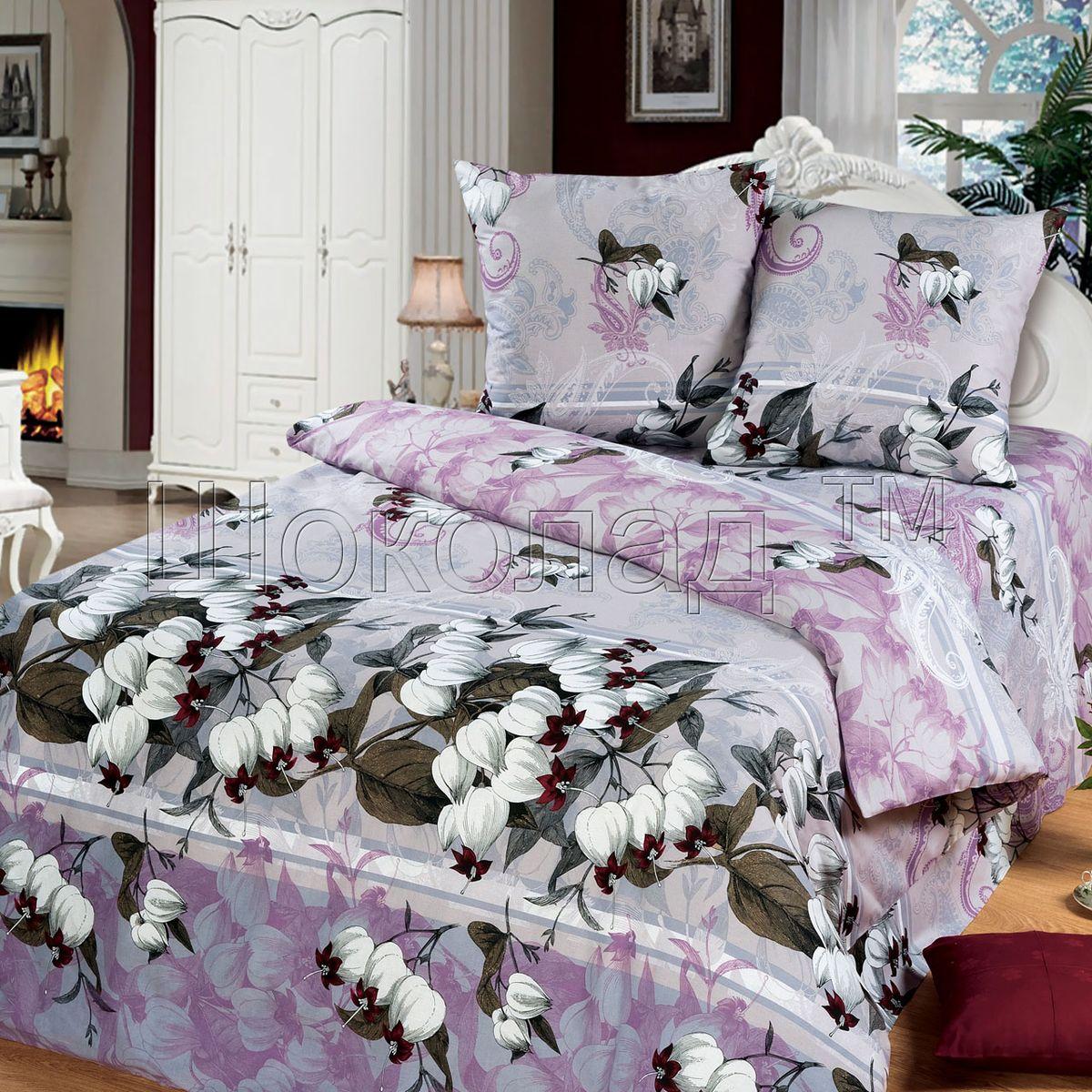 Комплект белья Шоколад Анита, 1,5-спальный, наволочки 70x70. Б100391602Комплект постельного белья Шоколад Анита является экологически безопасным для всей семьи, так как выполнен из натурального хлопка. Комплект состоит из пододеяльника, простыни и двух наволочек. Постельное белье оформлено оригинальным рисунком и имеет изысканный внешний вид.Бязь - это ткань полотняного переплетения, изготовленная из экологически чистого и натурального 100% хлопка. Она прочная, мягкая, обладает низкой сминаемостью, легко стирается и хорошо гладится. Бязь прекрасно пропускает воздух и за ней легко ухаживать. При соблюдении рекомендуемых условий стирки, сушки и глажения ткань имеет усадку по ГОСТу, сохранятся яркость текстильных рисунков. Приобретая комплект постельного белья Шоколад Анита, вы можете быть уверены в том, что покупка доставит вам и вашим близким удовольствие и подарит максимальный комфорт.