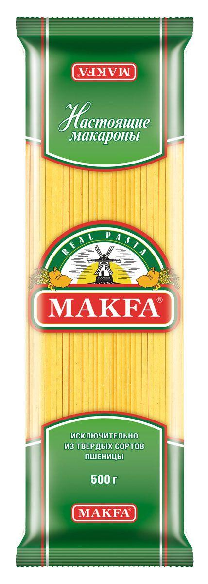 Makfa лапша длинная, 500 гБ0002496Попробуйте приготовить эту пасту с соусом песто и оцените гармонию вкусов. Но эти макаронные изделия хороши не только в рецептах европейской кухни. Ее можно использовать в блюдах среднеазиатской, японской и китайской кухонь.Варится 12 минут.
