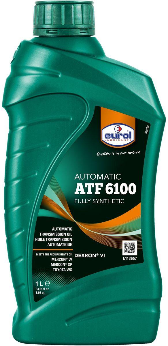 Масло трансмиссионное EUROL ATF 6100 1 л106375Жидкость для автоматических трансмиссий General Motors. Eurol ATF 6100 - это полностью синтетическая жидкость для автоматических трансмиссий, преимущественно для General Motors. Также походит для гидроусилителей и систем гидравлики, где необходима хорошая текучесть при низких температурах. Eurol ATF 6100 имеет очень низкую температуру застывания, что обеспечивает легкое переключение при холодных запусках. Не повреждает прокладки.Eurol ATF 6100 рекомендуется для долива или полной замены жидкости в автоматических трансмиссиях, требующих DEXRON VI и/или DEXRON III.Versus DEXRON III, Eurol ATF 6100 имеет высокий и стабильных индекс вязкости и хорошо защищает от механического разрушения, коррозии и окисления. Благодаря этому, интервалы замены для новых трансмиссий GM увеличены в два раза.Eurol ATF 6100 соответствует требованиям DEXRON VI, специально разработанных для Hydra-Matic six-speed трансмиссий General Motors. Эта ATF рекомендуется для всех автоматических трансмиссий General Motors, построенных в 2006 году и позже.Спецификации и одобрения: •DEXRON VI•DEXRON III (только для GM)•DEXRON IIE (только для GM)•Toyota WS•Mercon LV•Mercon SP