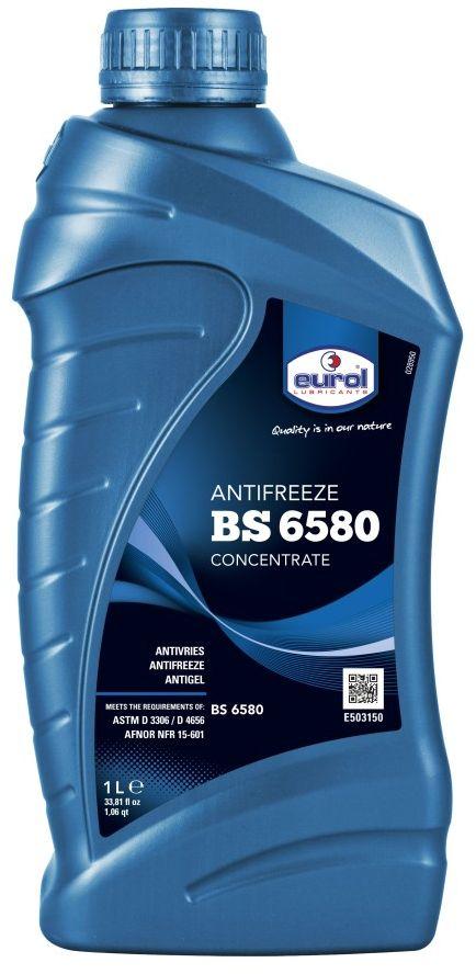 Жидкость охлаждающая EUROL Antifreeze, G-11, 1 л155FA2Согласно стандарту BS 6580, для открытых и закрытых систем охлаждения.Антифриз Euro Antifreeze рекомендуется для всех систем охлаждения двигателей внутреннего сгорания (LPG, бензиновые и дизельные) и других систем теплопередачи, как системы центрального отопления. Это однородная, стабильная жидкость на основе моноэтиленгликоля, отвечающая требованиям европейских автопроизводителей.Антифриз Eurol Antifreeze содержит присадки, защищающие от окисления и пенообразования. Благодаря высокой щелочности обеспечивается длительная защита от коррозии.Антифриз Eurol Antifreeze проявляет свои лучшие свойства при концентрации от 25 дo 50 vol.%. Концентрации ниже 65 % неэффективны из-за уменьшенной защиты от мороза.Eurol Antifreeze не повреждает резину, пластик, металлы, аллюминий и сплавы. Продукт не содержит нитрины, амины и фосфаты.Спецификации и одобрения:•BS 6580•ASTM D 3306 / D 4656•AFNOR NFR 15-601•Vol% в воде : 25 30 33 40 50•Защита (°C) : -11 -16 -18 -26 -37