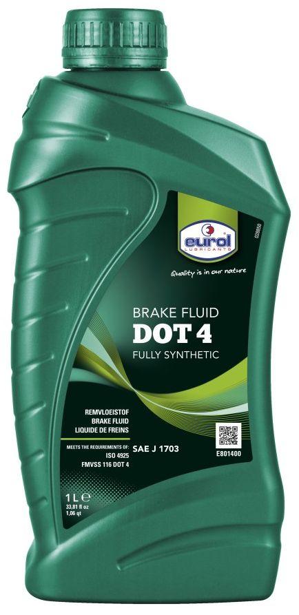 Жидкость тормозная EUROL Brakefluid DOT 4, 1 лSVC-300EUROL BRAKEFLUID DOT 4 Тормозная жидкость для барабанных и дисковых тормозных систем. Высококачественный продукт, специально разработанный для гидравлических тормозных систем легкового и грузового транспорта, мопедов, скутеров, подъемников и мотоциклов, барабанных и дисковых тормозов (с или без ABS/ASR). Не повреждает уплотнения, металлы или сплавы, обеспечивает максимальную защиту против ржавчины. Благодаря смазывающей способности тормозной жидкости, износ деталей тормозной системы сведен к минимуму. Стабильна на всем сроке эксплуатации и не вызывает отложений. Благодаря высокому индексу вязкости при низких температурах, продукт гарантирует отличные рабочие характеристики. Имеет высокую мокрую точку кипения, которая исключает образование пара при интенсивном торможении, что является гарантией безопасной эксплуатации транспортного средства.ВНИМАНИЕ!Нельзя смешивать в системах с минеральной жидкостью (LHM, как правило зеленого цвета) или с силиконовой жидкостью (красного цвета DOT 5).Тормозная жидкость может повредить краску. При попадании немедленно промыть водой. Хранить в закрытой упаковке и избегать попадания воды или масел.СПЕЦИФИКАЦИИ И ОДОБРЕНИЯ:SAE J 1703 ISO 4925 FMVSS 116 DOT 3 /DOT 4 BMW 9368 MAN TUC V3681 VOLKSWAGEN 3057
