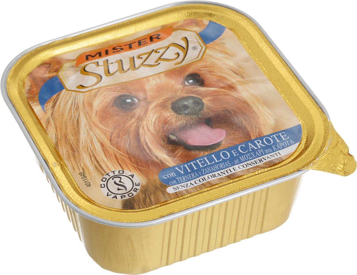 Консервы Stuzzy Mister, для собак, с телятиной и морковью, 150 г131.C253Консервы Stuzzy Mister - это полноценное и сбалансированное питание для щенков. Корм обогащен таурином и витамином Е для поддержания правильной работы сердца и иммунной системы. Инулин обеспечивает всасывание питательных веществ, а биотин способствуют великолепному внешнему виду кожи и шерсти. Корм Stuzzy Mister приготовлен на пару, не содержит красителей и консервантов. Товар сертифицирован.