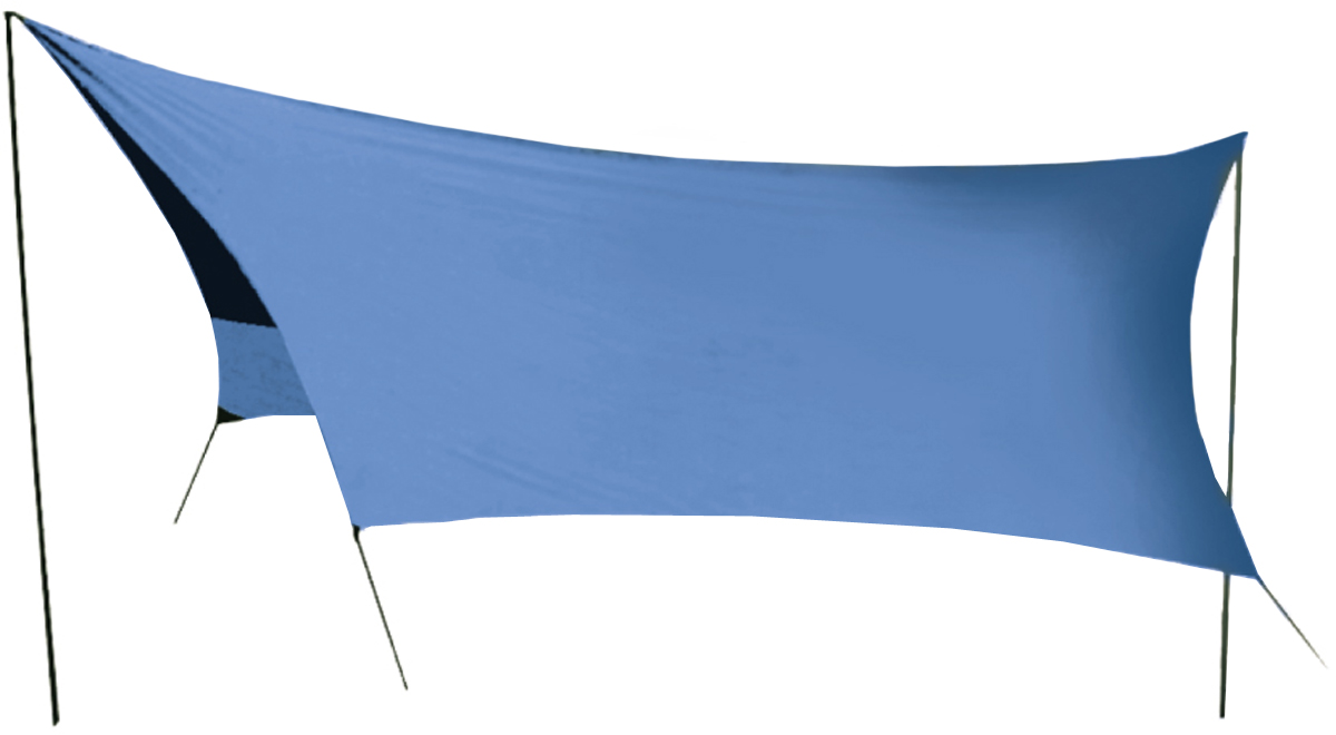 Тент Sol, цвет: синий, 440 х 440 см70251Удобный тент со стойками Tramp предназначен для защиты от дождя и солнца. Изделие очень просто устанавливается. Идеально подходит для отдыха на открытом воздухе в летнее время, спасает от легкой непогоды и солнца. Тент выполнен из прочного полиэстера. Стойки изготовлены из стали толщиной 16 мм.В комплект входит чехол для переноски и хранения.Размер тента: 440 х 440 см.