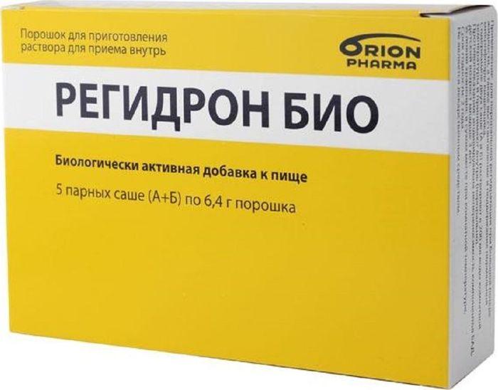 Регидрон Био, 5 парных саше (А+Б) х 6,4 гWS 7064Регидрон БИО - способствует восстановлению водно-электролитного баланса, а также поддержанию нормальной микрофлоры кишечника. Содержит электролиты, недостаток которых отмечается при обезвоживании и потере жидкости у детей и взрослых (например, при диарее, высокой температуре и т.д.). Входящая в состав глюкоза является источником энергии, обеспечивающим основные потребности организма. Бактерии Lactobacillus rhamnosus GG способствуют восстановлению и поддержанию нормальной микрофлоры кишечника, пребиотический компонент мальтодекстрин стимулирует рост Lactobacillus rhamnosus GG и нормальной микрофлоры кишечника.Товар не является лекарственным средством. Товар не рекомендован для лиц младше 18 лет. Могут быть противопоказания и следует предварительно проконсультироваться со специалистом. Товар сертифицирован.