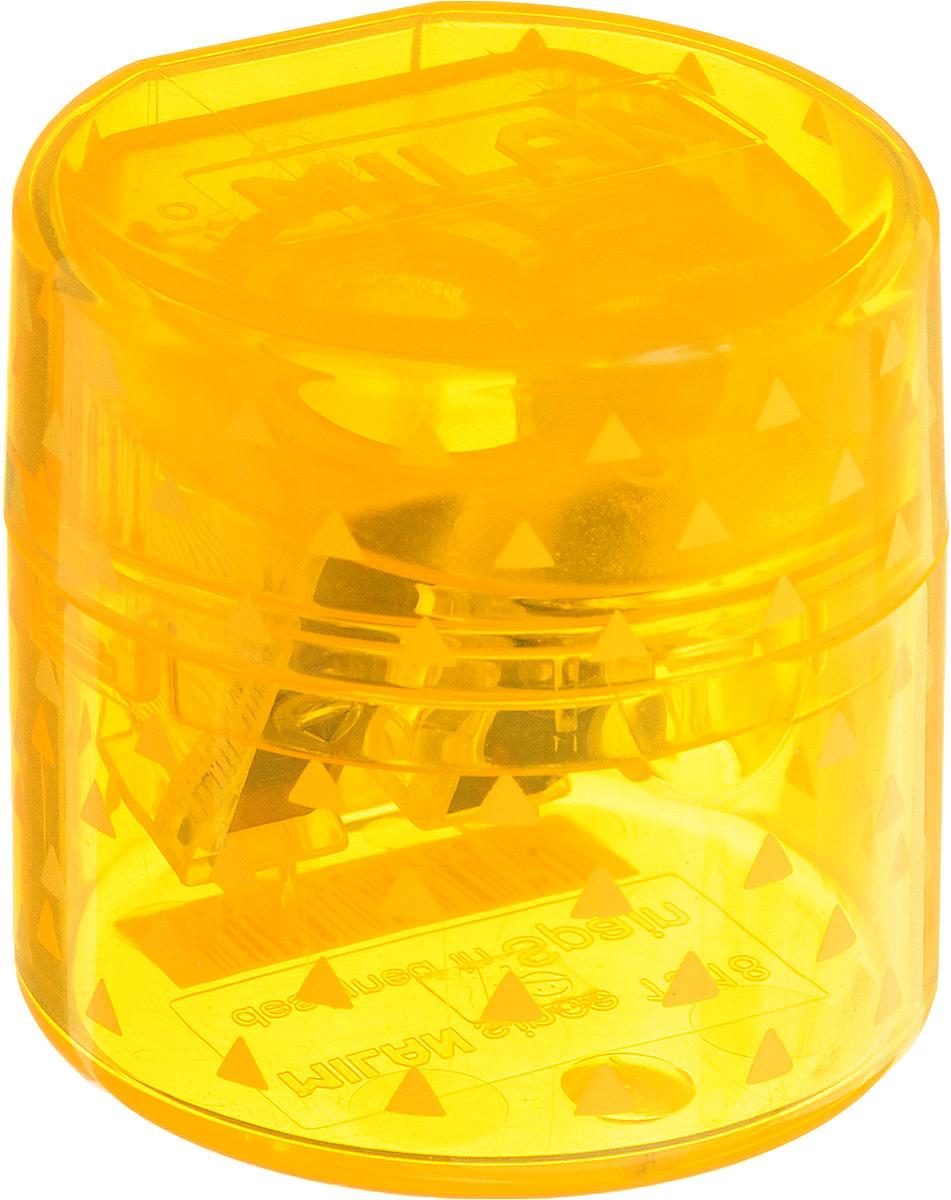 Milan Точилка Duet с контейнером цвет желтыйC50435Удобная точилка с контейнером Milan Duet оснащена безопасной системой заточки.Эта система предотвращает отделение лезвия от точилки. Идеально подходит для использования в школах. Стальное лезвие острое и устойчиво к повреждению. Идеально подходит для заточки графитовых и цветных карандашей
