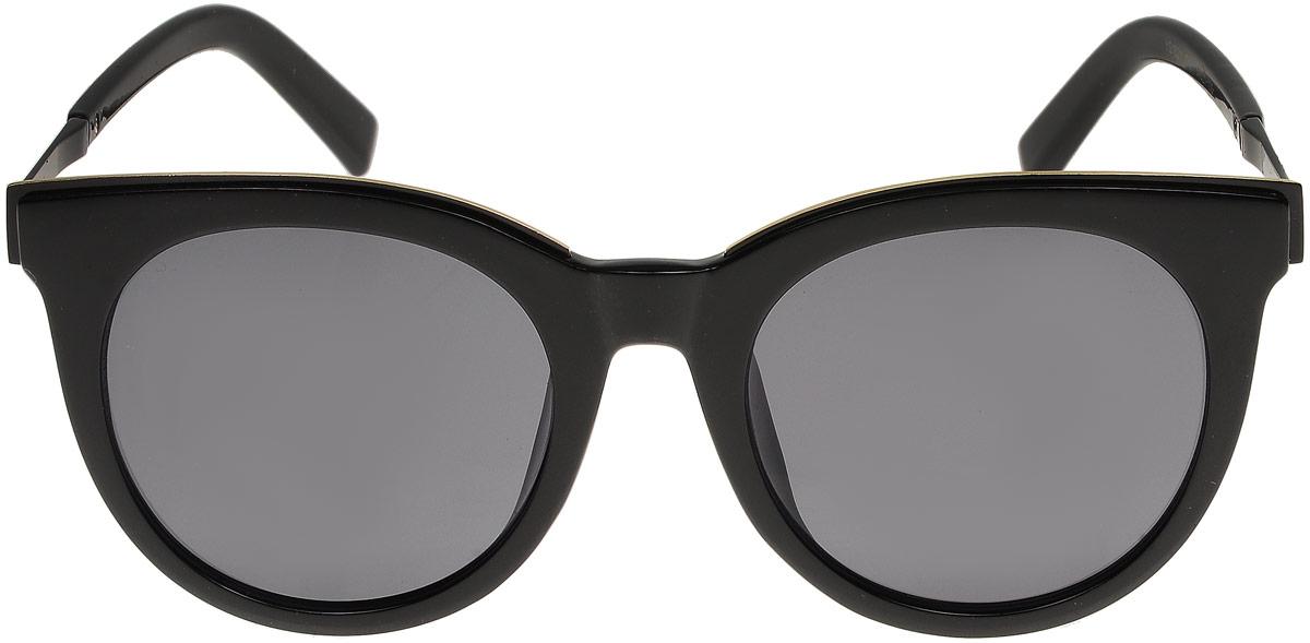 Очки солнцезащитные женские Модные истории, цвет: черный. 7/0024/0301900671-5605Стильные солнцезащитные очки Модные истории сделают приятной прогулку в жаркий солнечный полдень. Высокоэффективный встроенный УФ фильтр обеспечивает совершенную защиту от вредных ультрафиолетовых лучей.