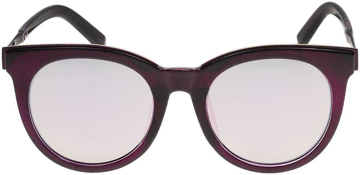 Очки солнцезащитные женские Модные истории, цвет: фиолетовый. 7/0024/164INT-06501Стильные солнцезащитные очки Модные истории сделают приятной прогулку в жаркий солнечный полдень. Высокоэффективный встроенный УФ фильтр обеспечивает совершенную защиту от вредных ультрафиолетовых лучей.