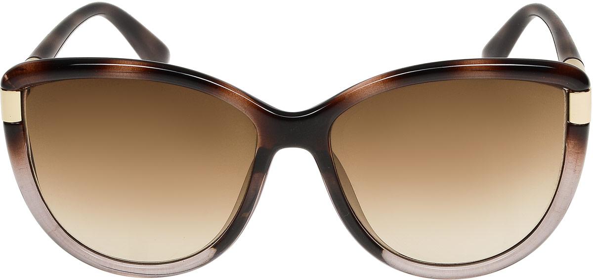 Очки солнцезащитные женские Модные истории, цвет: коричневый. 7/0022/0581900671-5605Стильные солнцезащитные очки Модные истории сделают приятной прогулку в жаркий солнечный полдень. Высокоэффективный встроенный УФ фильтр обеспечивает совершенную защиту от вредных ультрафиолетовых лучей.