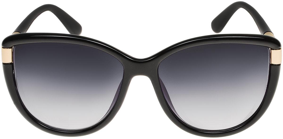 Очки солнцезащитные женские Модные истории, цвет: черный. 7/0022/030INT-06501Стильные солнцезащитные очки Модные истории сделают приятной прогулку в жаркий солнечный полдень. Высокоэффективный встроенный УФ фильтр обеспечивает совершенную защиту от вредных ультрафиолетовых лучей.